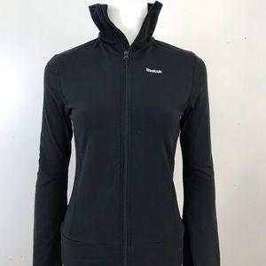Reebok Black Stretch Full Zip Jacket Small S Yoga